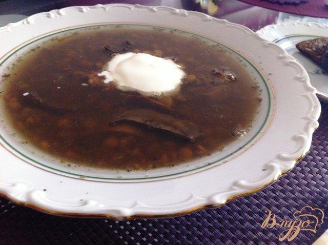 Фото приготовление рецепта: Суп из чечевицы с грибами шаг №7