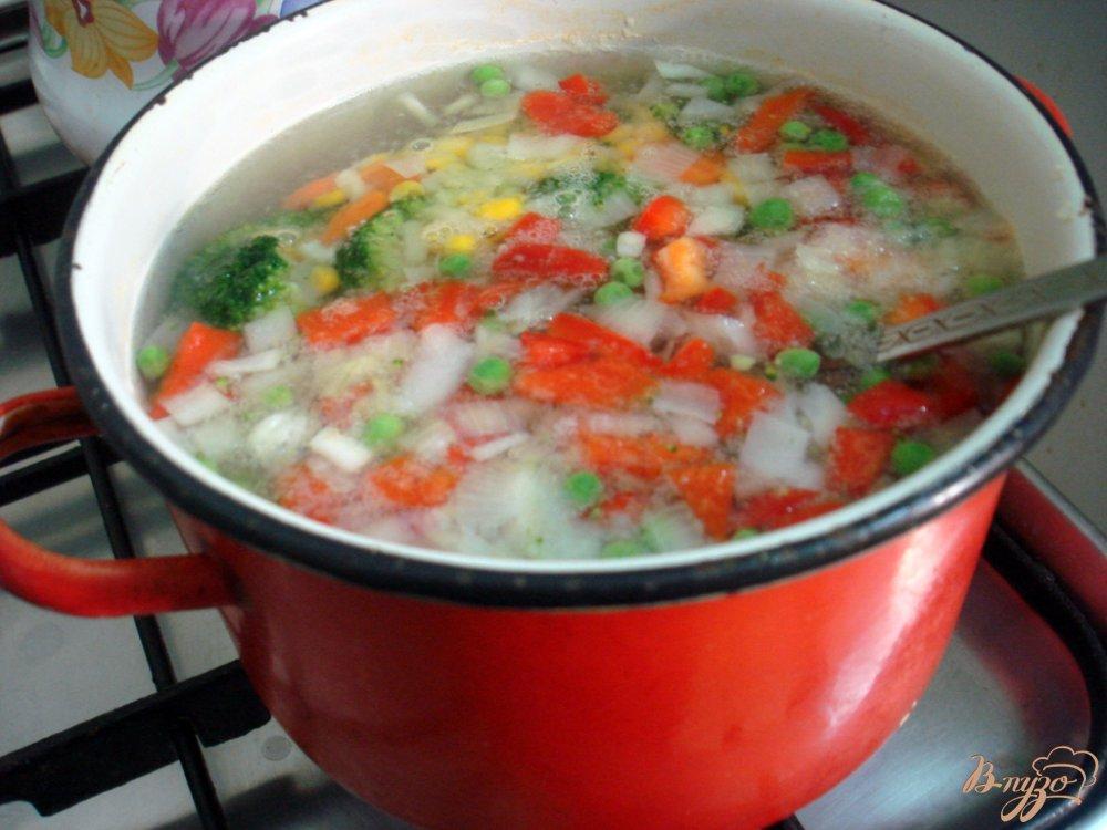 Фото приготовление рецепта: Овощной суп с прованским набором шаг №4
