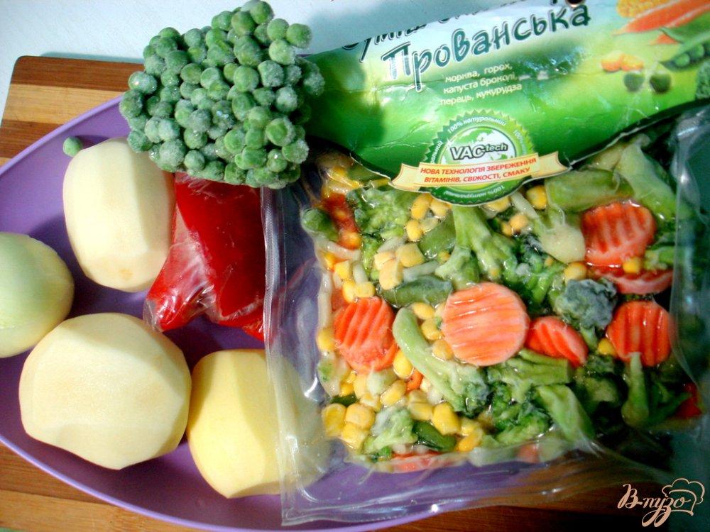 Фото приготовление рецепта: Овощной суп с прованским набором шаг №1