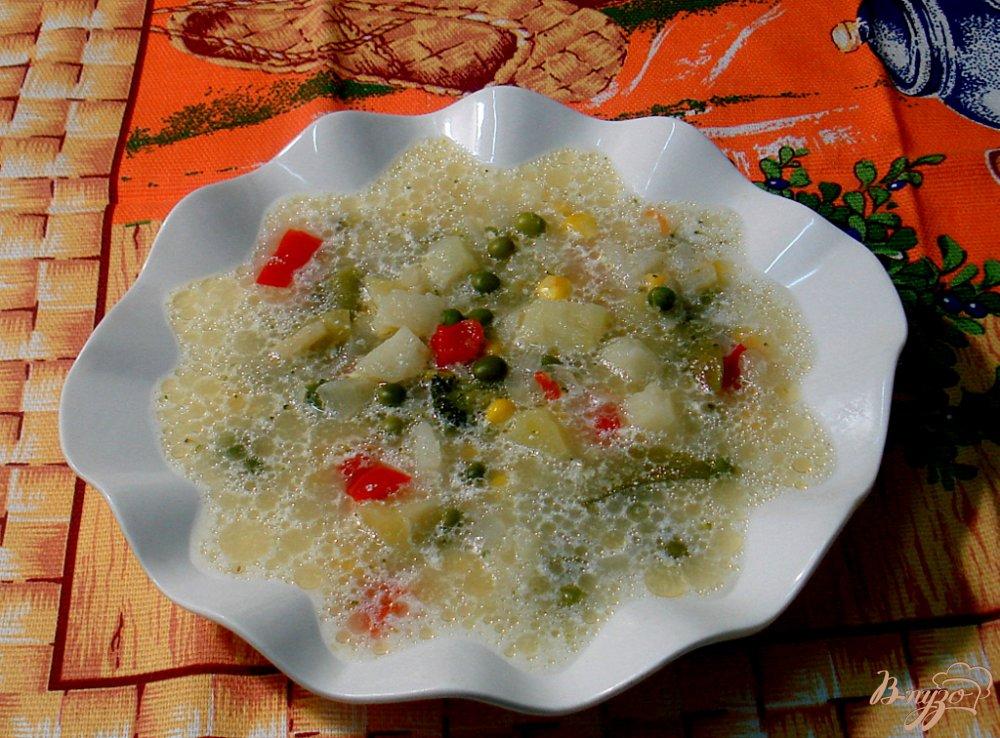 Фото приготовление рецепта: Овощной суп с прованским набором шаг №5