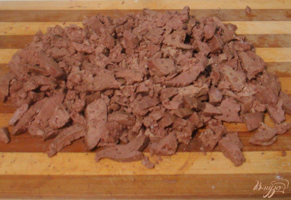 Фото приготовление рецепта: Салат из куриной печени шаг №5