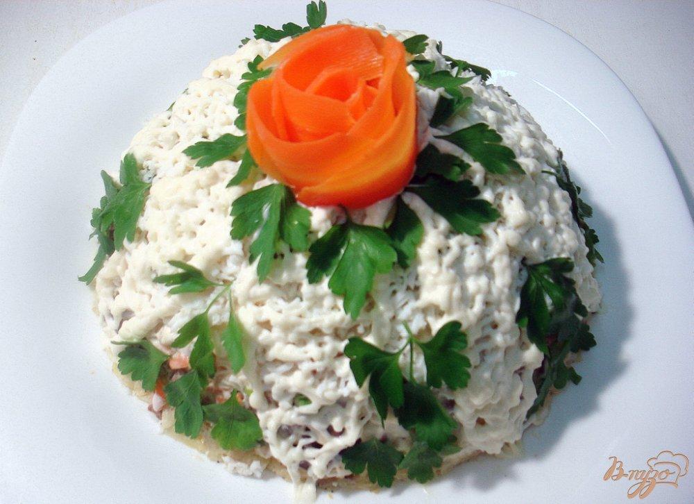 Фото приготовление рецепта: Салат из куриной печени шаг №11