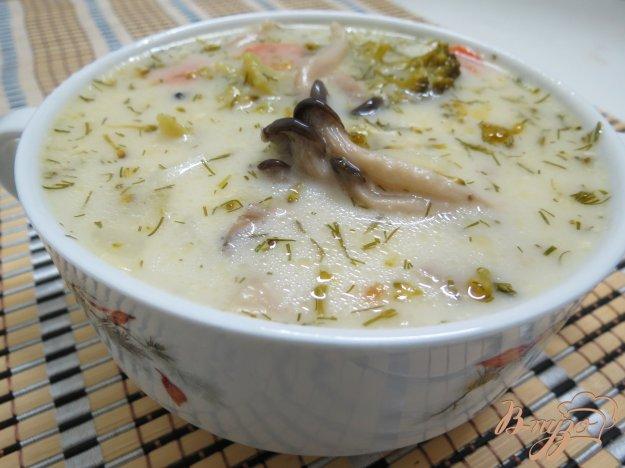 Суп з вешенками і брокколі. Як приготувати з фото