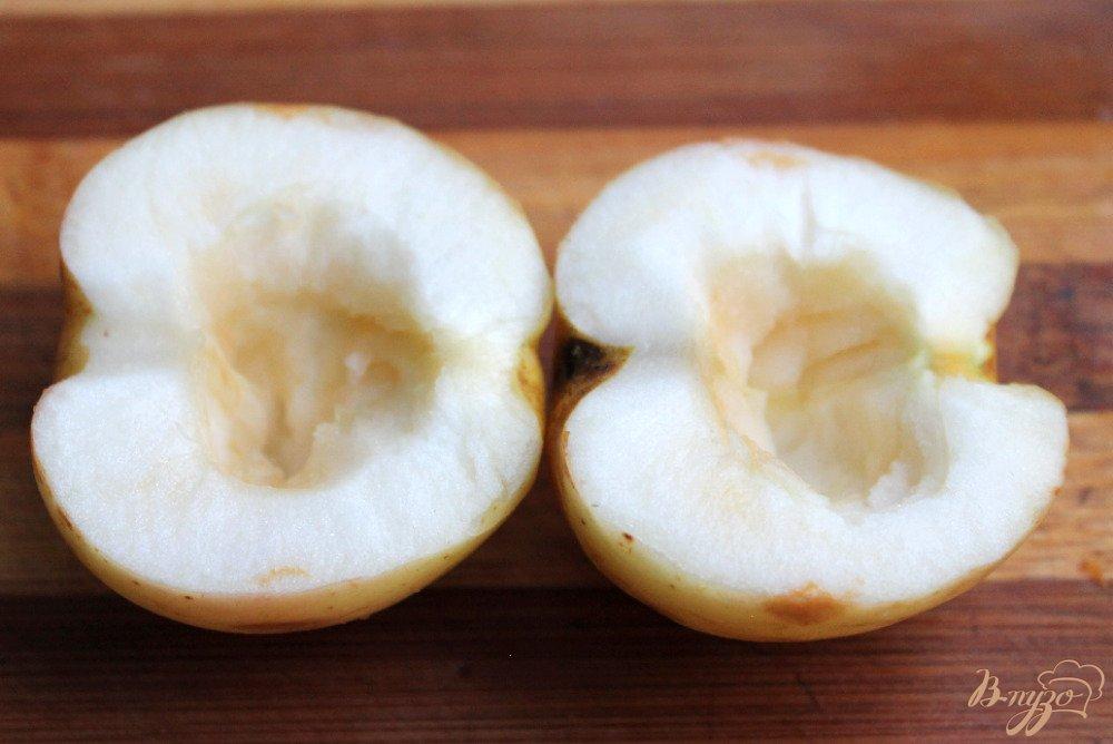 Фото приготовление рецепта: Яблоки запеченные с творогом шаг №3