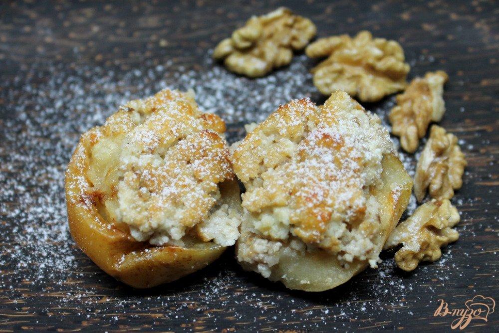 Фото приготовление рецепта: Яблоки запеченные с творогом шаг №6