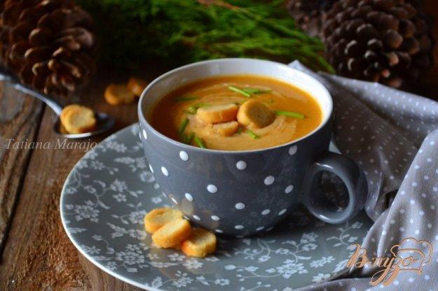 фото рецепта: Суп-пюре с  овощами  и рыбными консервами
