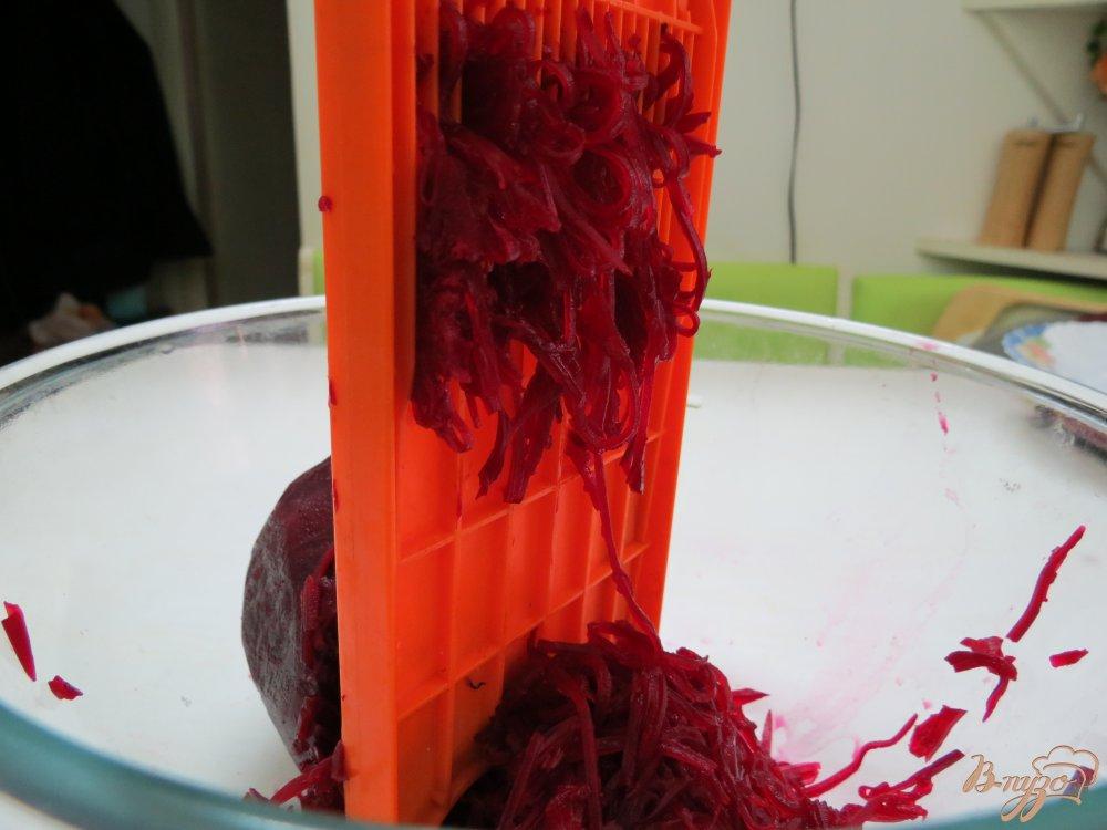 Фото приготовление рецепта: Красный борщ с фасолью шаг №3