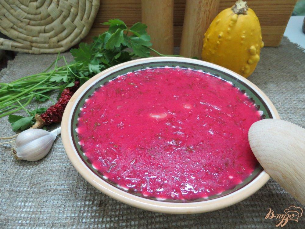 Фото приготовление рецепта: Красный борщ с фасолью шаг №9