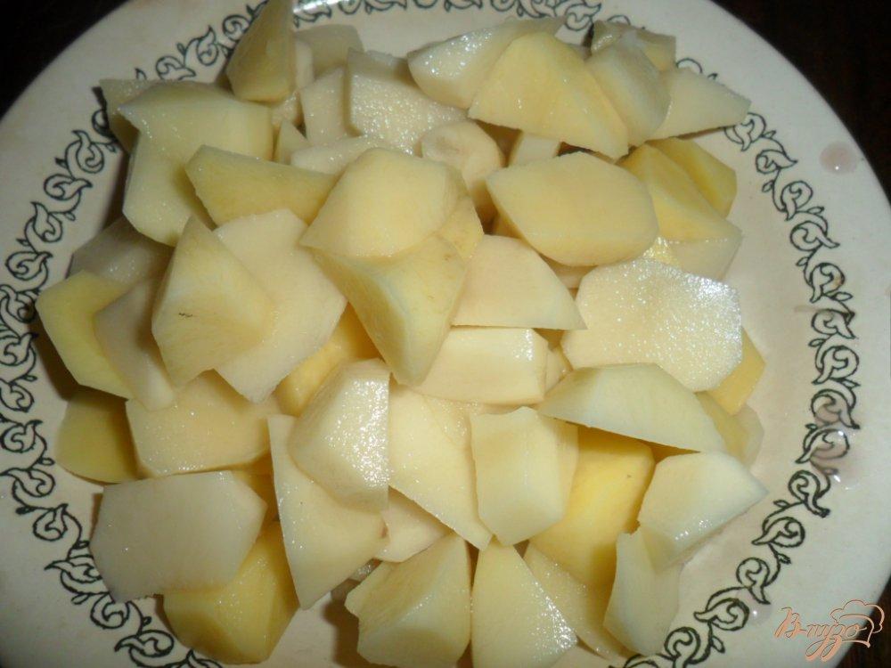 Фото приготовление рецепта: Борщ с фасолью и галушками шаг №5