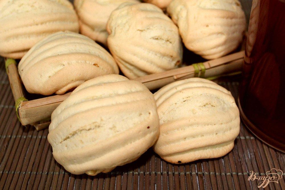 Фото приготовление рецепта: Ванильное печенье «Полоски» шаг №7