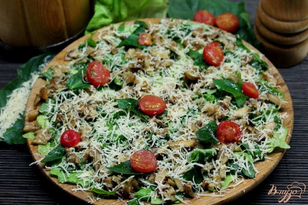 Фото приготовление рецепта: Зеленый салат с топинамбуром и сыром шаг №9