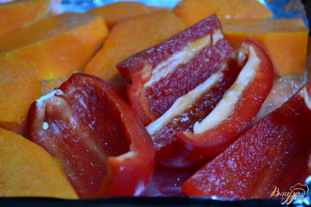 Фото приготовление рецепта: Овощной суп с печеной тыквой шаг №1