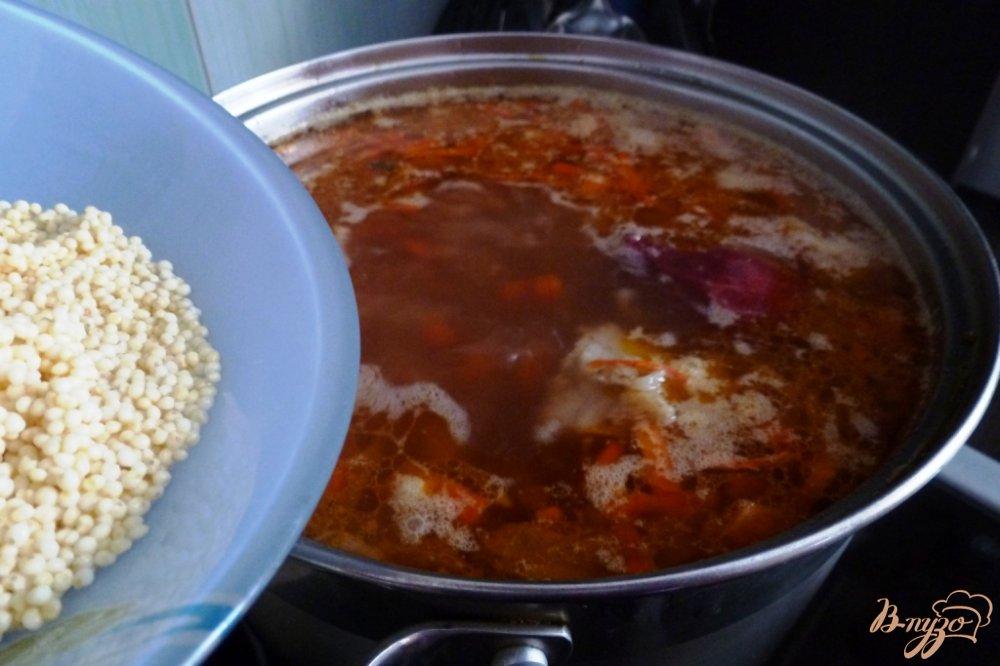 Фото приготовление рецепта: Капустняк из квашенной капусты с пшеном шаг №4