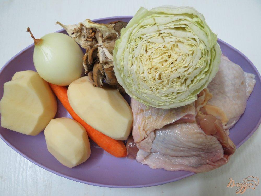 Фото приготовление рецепта: Суп из пекинской капусты на бульоне шаг №1