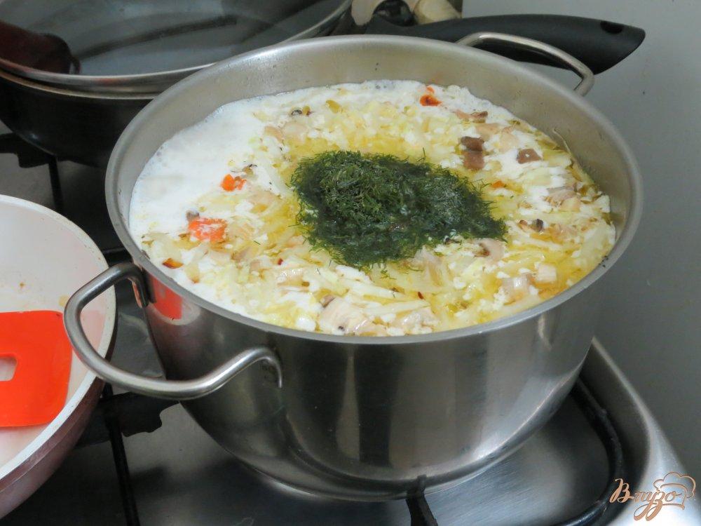 Фото приготовление рецепта: Суп из пекинской капусты на бульоне шаг №6
