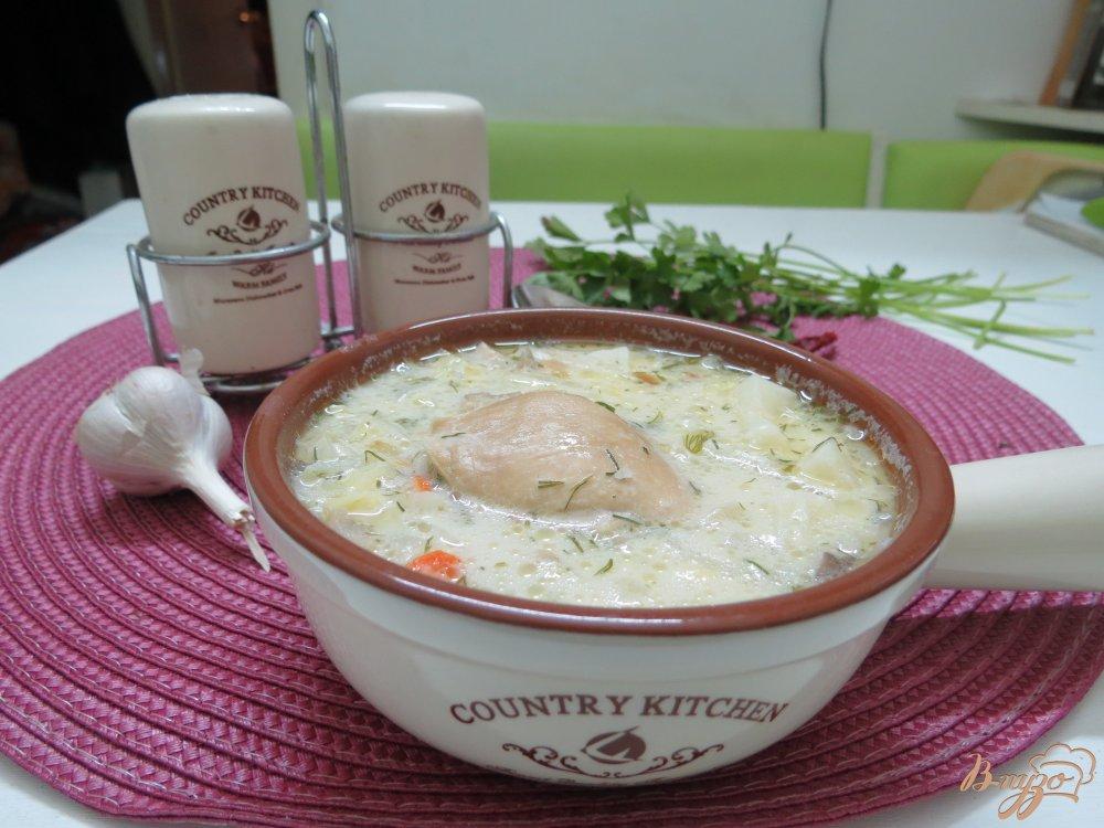 Фото приготовление рецепта: Суп из пекинской капусты на бульоне шаг №8