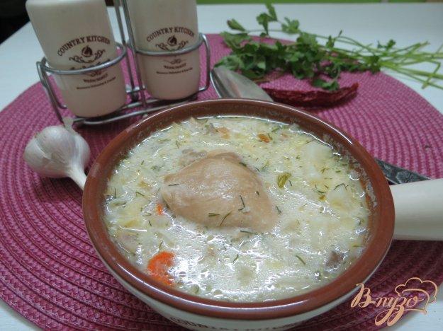 фото рецепта: Суп из пекинской капусты на бульоне
