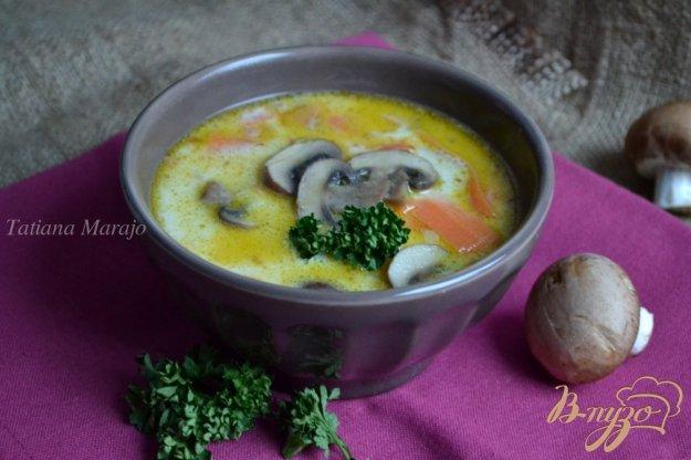 фото рецепта: Сливочный суп с шампиньонами