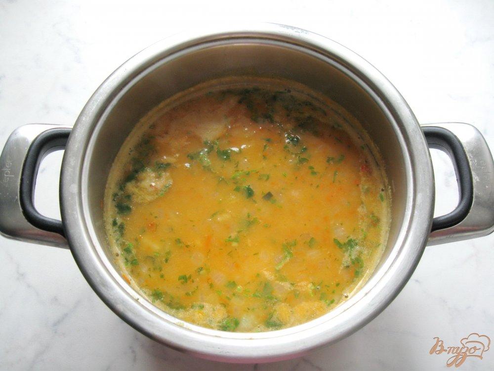 Фото приготовление рецепта: Вегетарианский гороховый суп с томатом. шаг №6