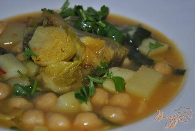фото рецепта: Суп-крем с брюссельской капустой и артишоками