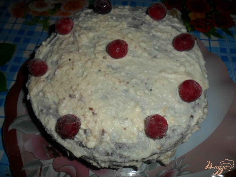 Торт с вишней и кремом из сметаны с фото пошагово 90