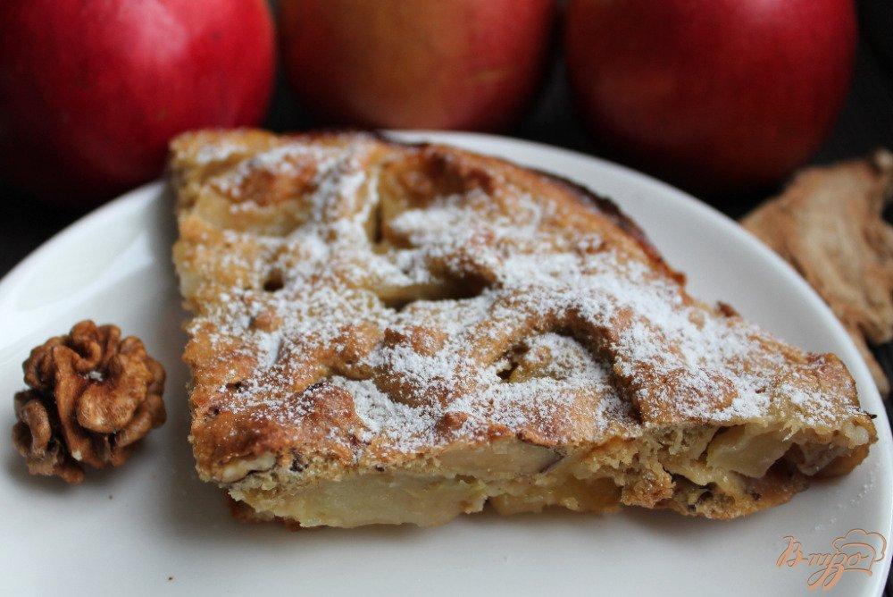 Фото приготовление рецепта: Овсяный пирог с яблоками шаг №8