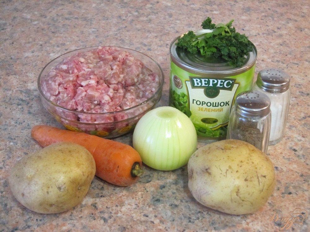 Фото приготовление рецепта: Суп с фрикадельками и зеленым горошком шаг №1