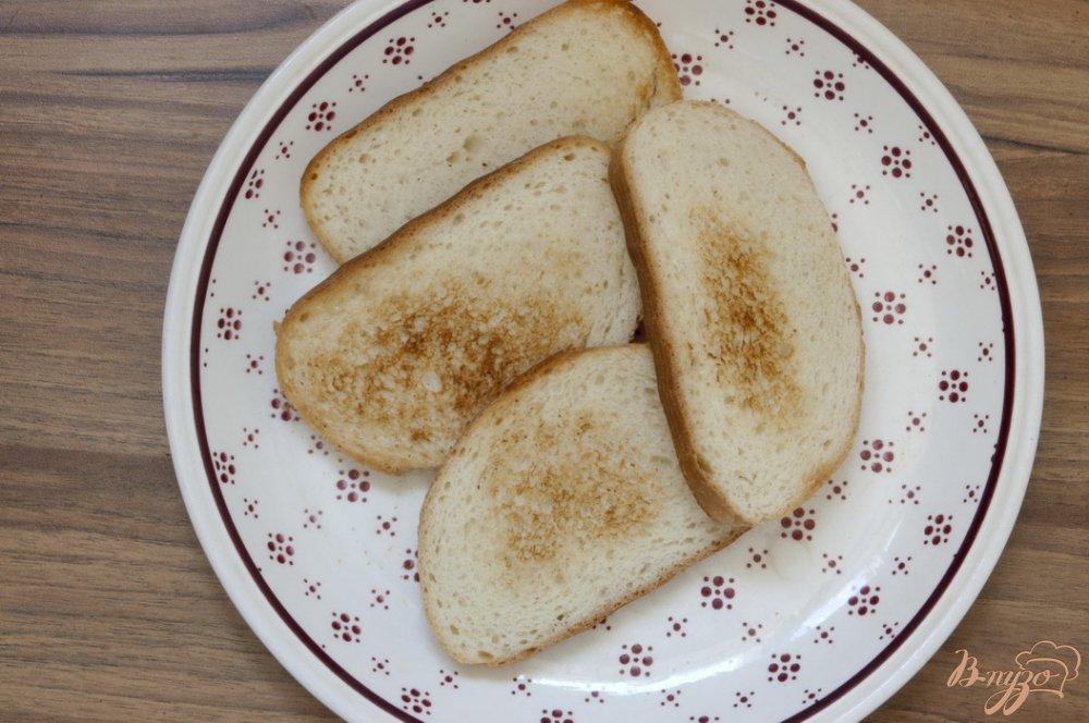 Фото приготовление рецепта: Сэндвич с шампиньонами шаг №5