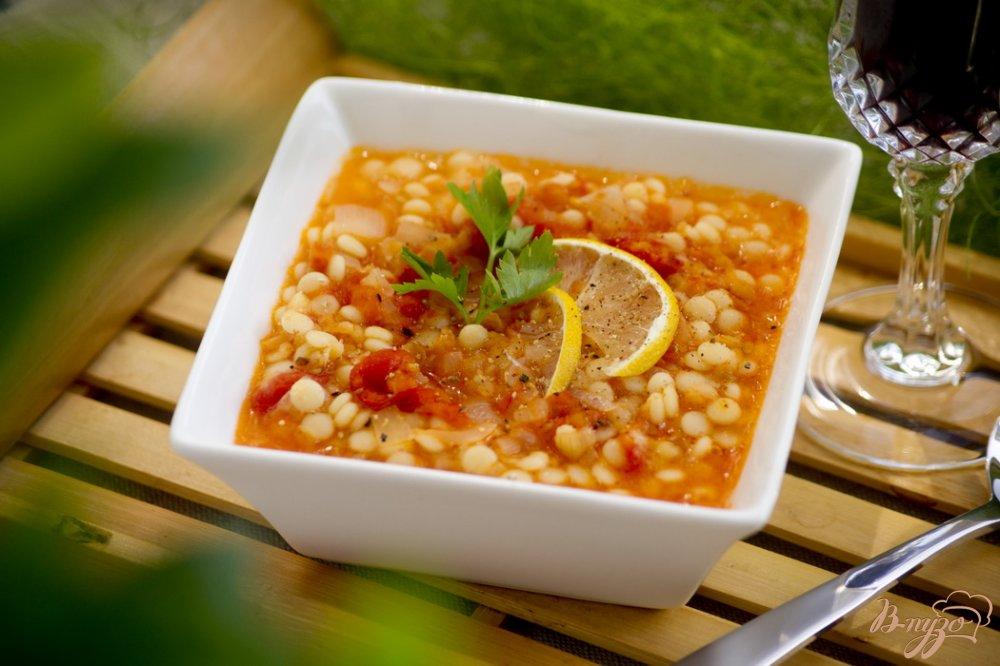 Фото приготовление рецепта: Суп с чечевицей и кус кусом шаг №8