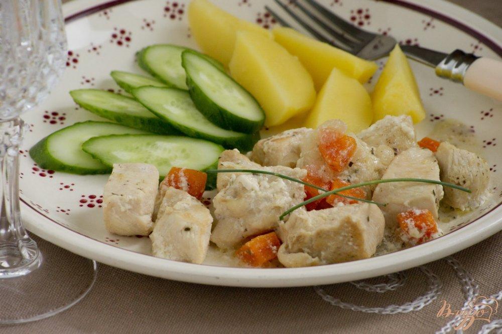 Фото приготовление рецепта: Соте из куриного филе шаг №7