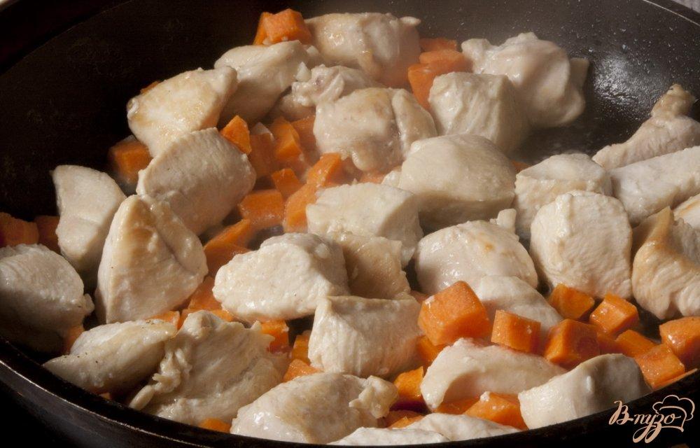 Фото приготовление рецепта: Соте из куриного филе шаг №3