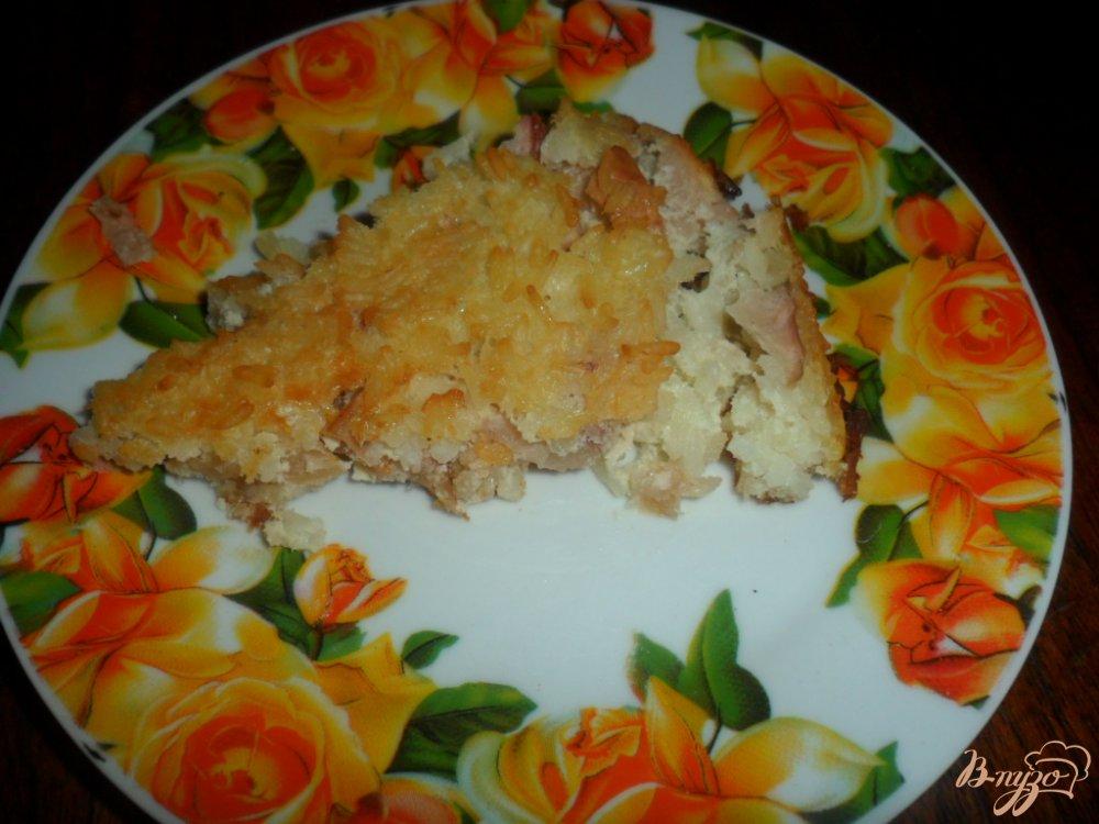 Фото приготовление рецепта: Рисовая запеканка с яблоками шаг №6