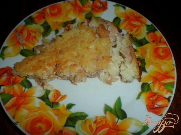 фото рецепта: Рисовая запеканка с яблоками