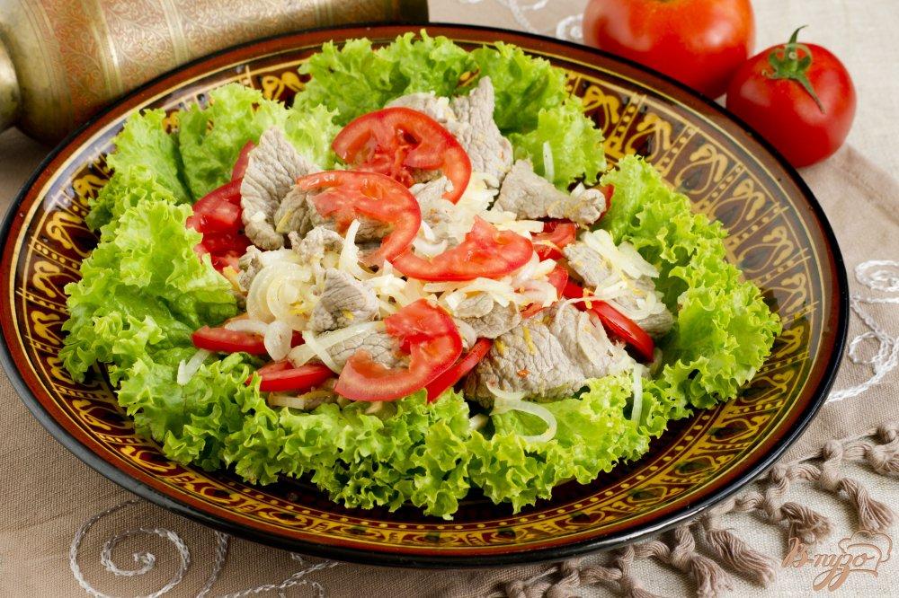 мясной с грибами салат рецепт с