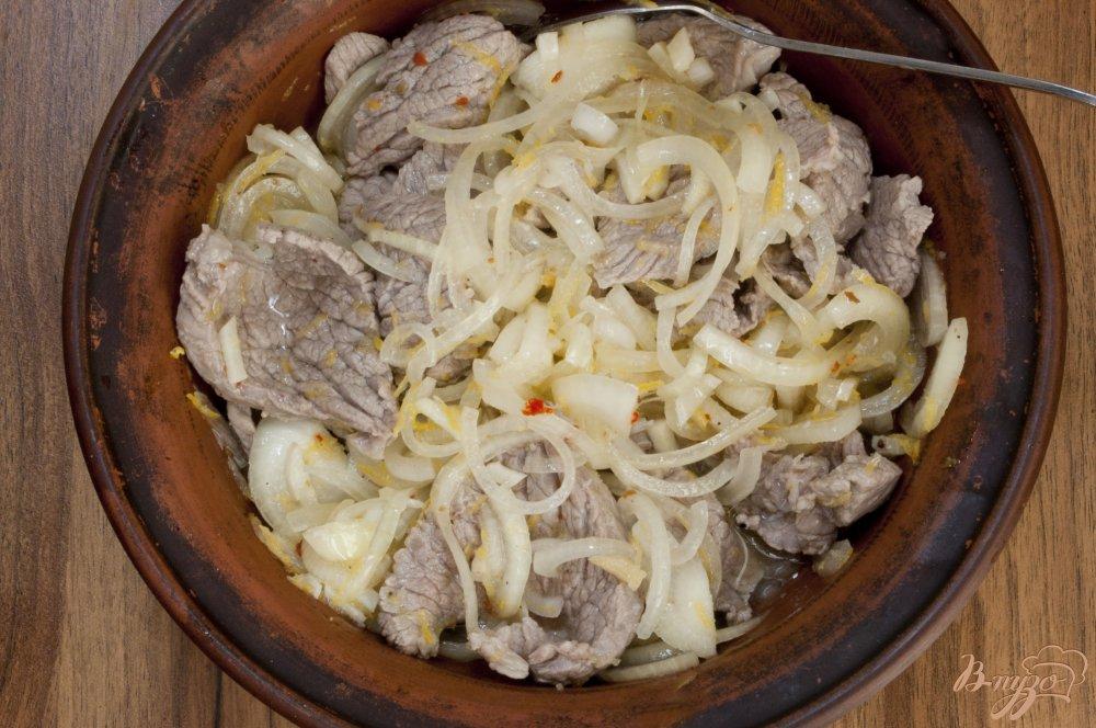 салат с мясом маринованным луком рецепт с фото