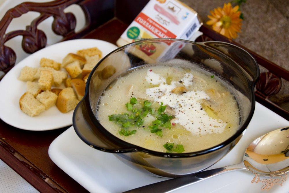 Фото приготовление рецепта: Ароматный суп с чесночком шаг №6