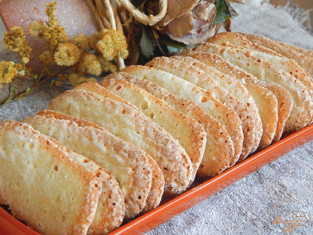 Фото приготовление рецепта: Бисквитное печенье савоярди шаг №8
