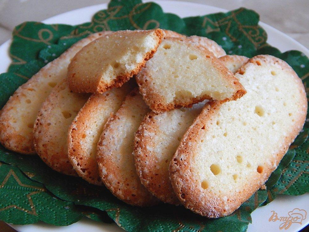 Фото приготовление рецепта: Бисквитное печенье савоярди шаг №7