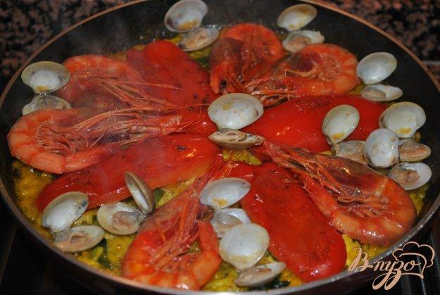 Паэлья рецепт с морепродуктами рецепт с пошагово