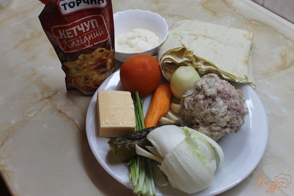 Фото приготовление рецепта: Шаурма со свининой шаг №1