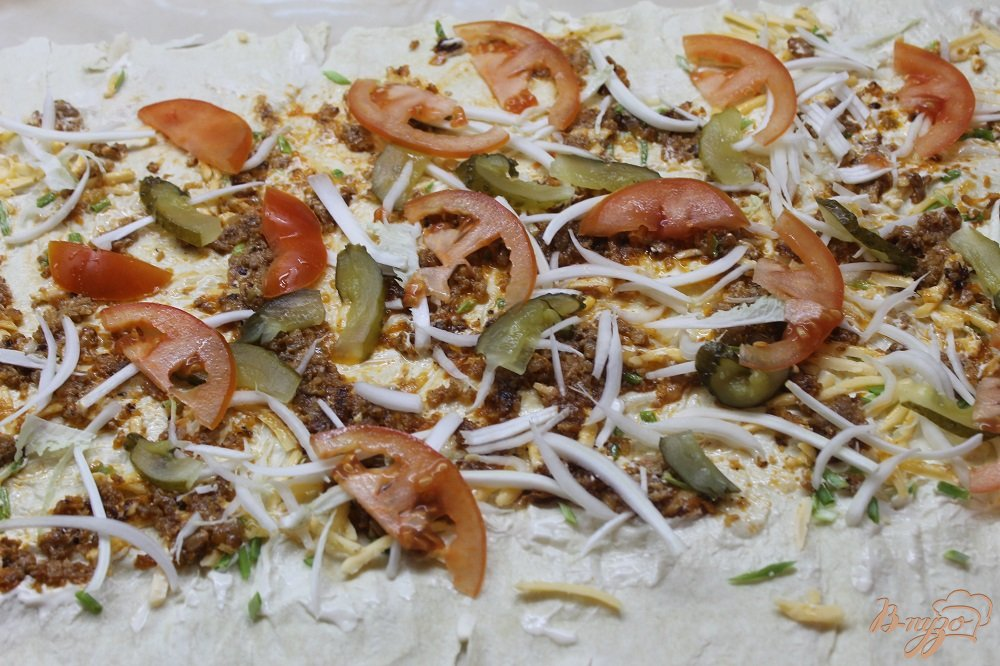 Фото приготовление рецепта: Шаурма со свининой шаг №6