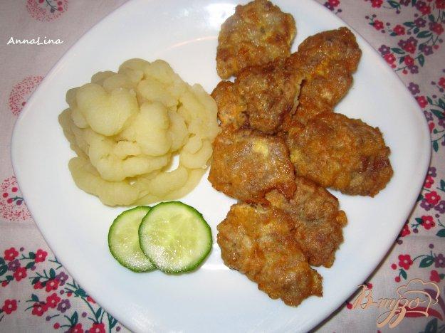 фото рецепта: Мини отбивные с куриных сердец в соевом соусе