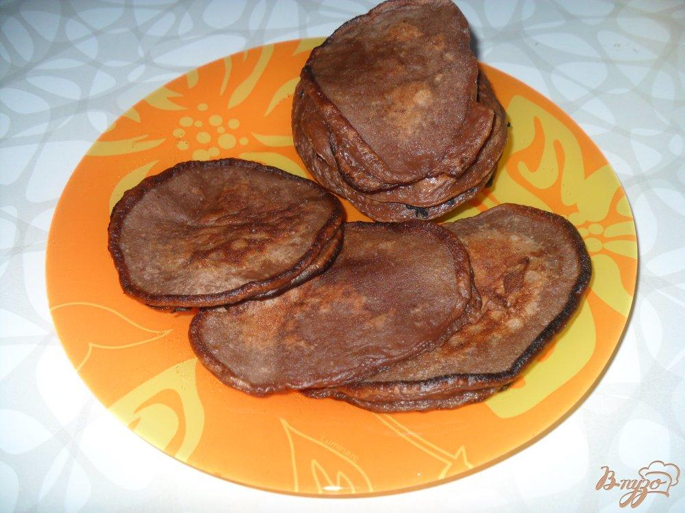 Фото приготовление рецепта: Шоколадные оладьи шаг №6