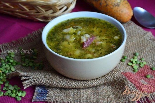фото рецепта: Гороховый суп с белой фасолью