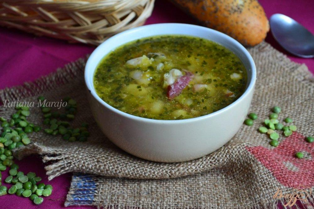 Фото приготовление рецепта: Гороховый суп с белой фасолью шаг №6