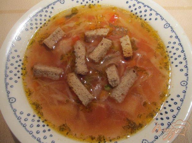 фото рецепта: Томатный суп с горошком