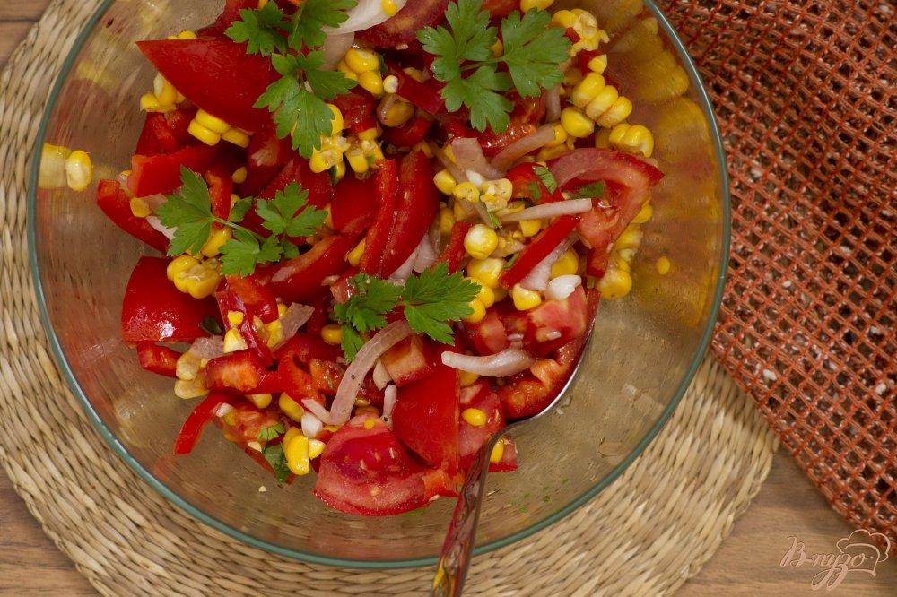 Фото приготовление рецепта: Летний салат шаг №8