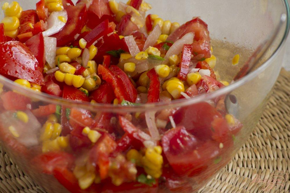 Фото приготовление рецепта: Летний салат шаг №7