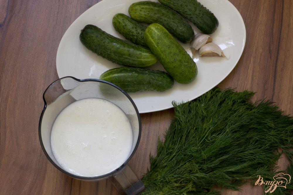 Фото приготовление рецепта: Холодный кефирный суп шаг №1
