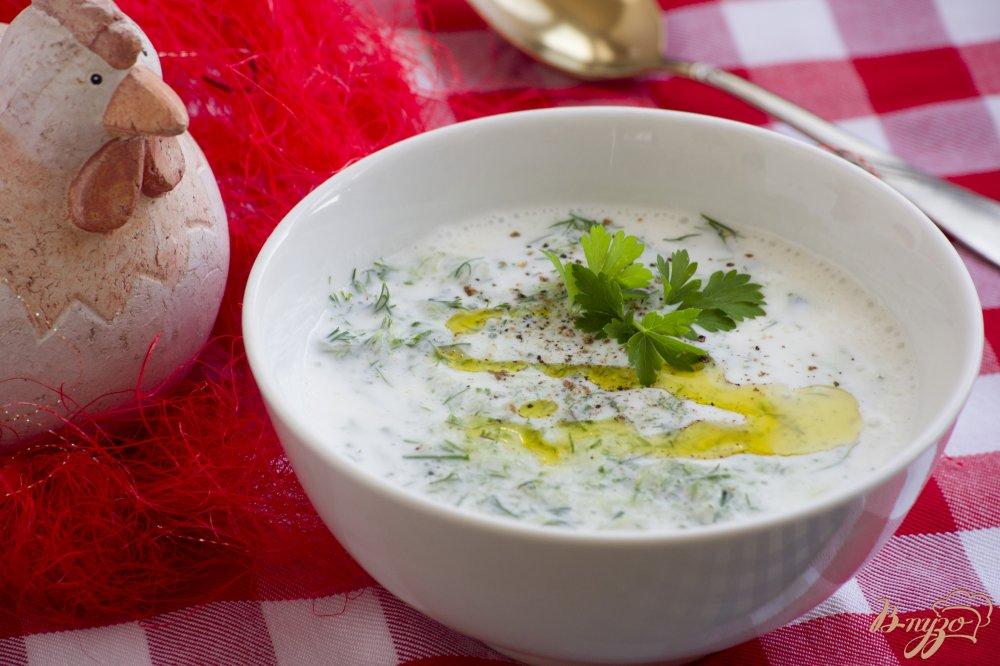 Фото приготовление рецепта: Холодный кефирный суп шаг №6